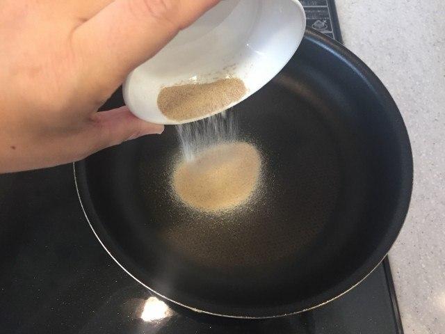 どんぐりコーヒー_作り方_マテバシイ粉_中火フライパン