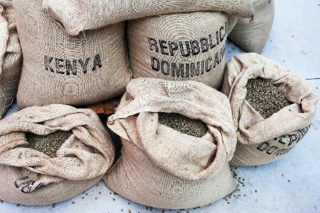 コーヒー豆_ケニア_麻袋