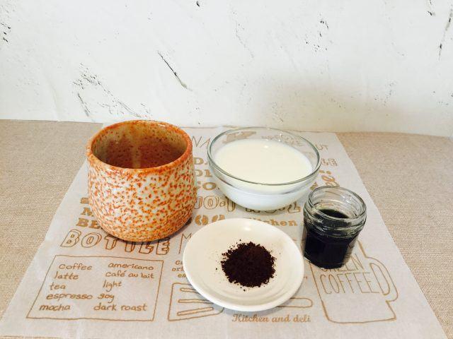 よもぎミルクコーヒー_材料