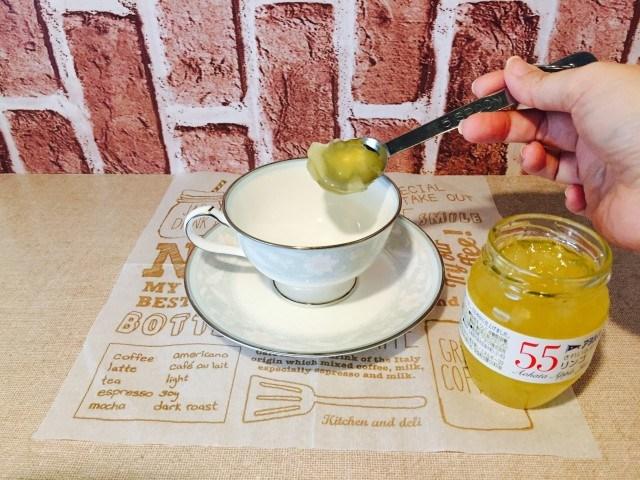アップルシナモンミルクコーヒー_ジャムを入れる