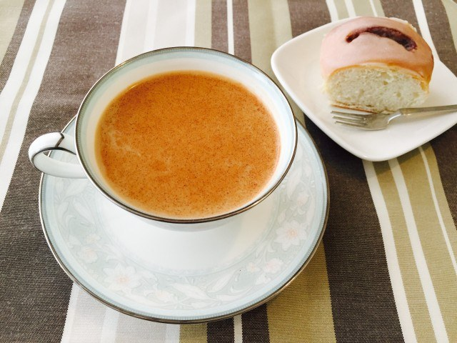 アップルシナモンミルクコーヒーの作り方【フレーバーコーヒーのレシピ】