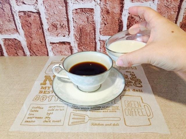 アップルシナモンミルクコーヒー_牛乳を加える