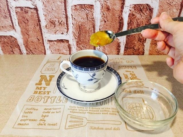 フルーティーシナモンコーヒー_ジャムを加える