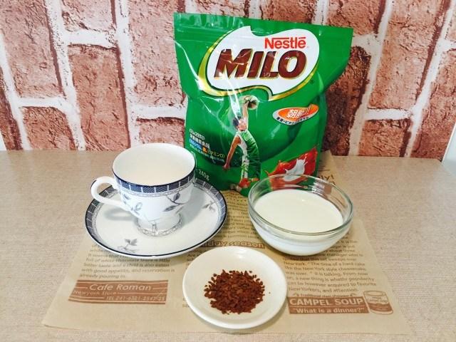 ミロミルクコーヒー_材料