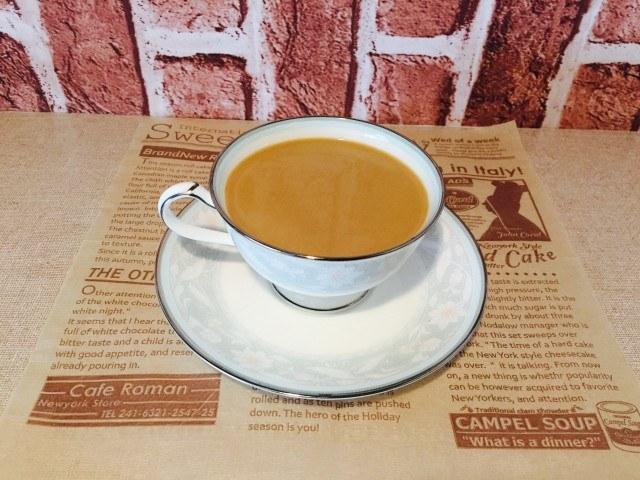 蜂蜜黒糖ミルクコーヒー_できあがり
