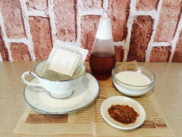 蜂蜜黒糖ミルクコーヒー_材料