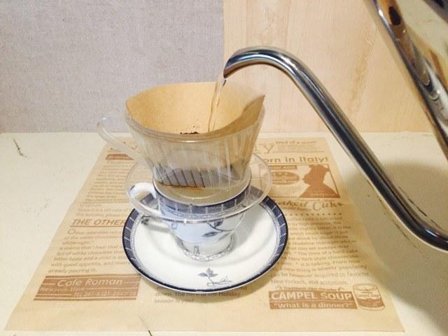カフェインレスアップルコーヒー_コーヒーを淹れる