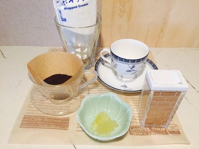 カフェインレスアップルコーヒー_材料