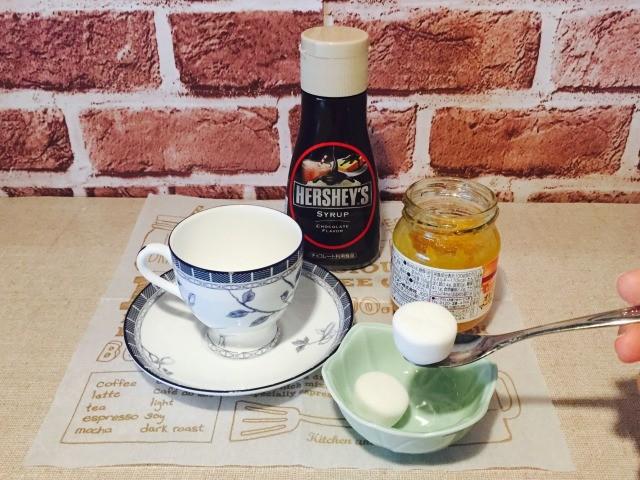 カフェインレスマーマレードコーヒー_材料を入れる