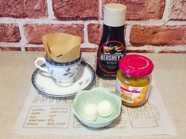 カフェインレスマーマレードコーヒー_材料