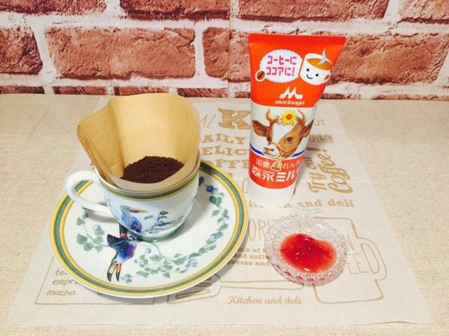 カフェインレス練乳コーヒー_材料