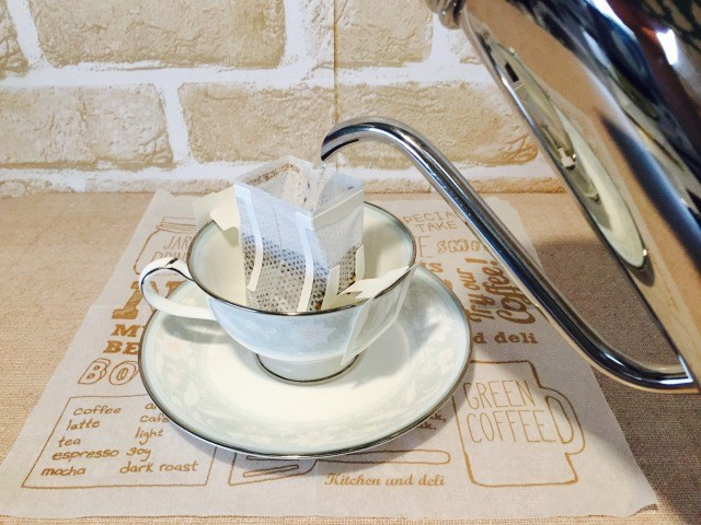 フォームドブルーベリーミルクコーヒー_コーヒーを淹れる