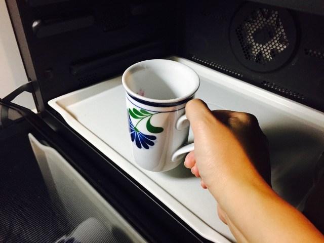 フォームドブルーベリーミルクコーヒー_レンジで温める