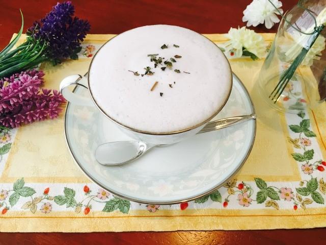 フォームドブルーベリーミルクコーヒーの作り方【フォームドミルクのレシピ】