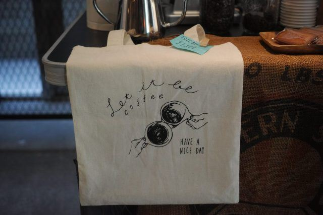 Let it be Coffee tote bag