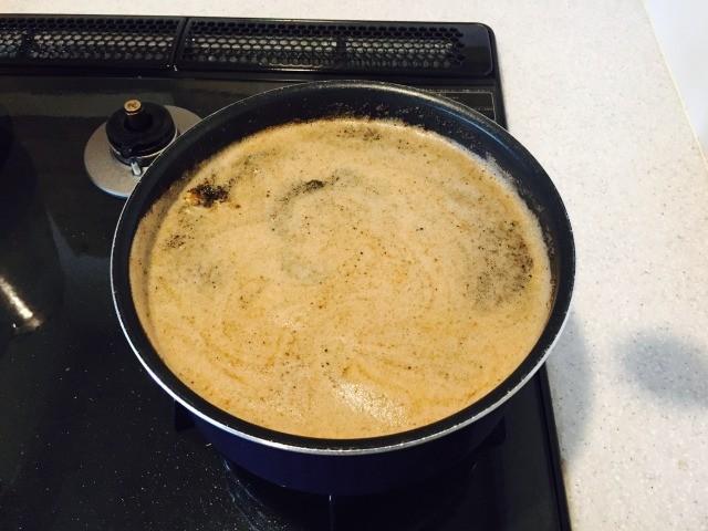たまごコーヒー_3分ほど煮る