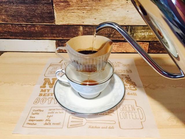 カフェインレス玄米コーヒー_コーヒーを淹れる