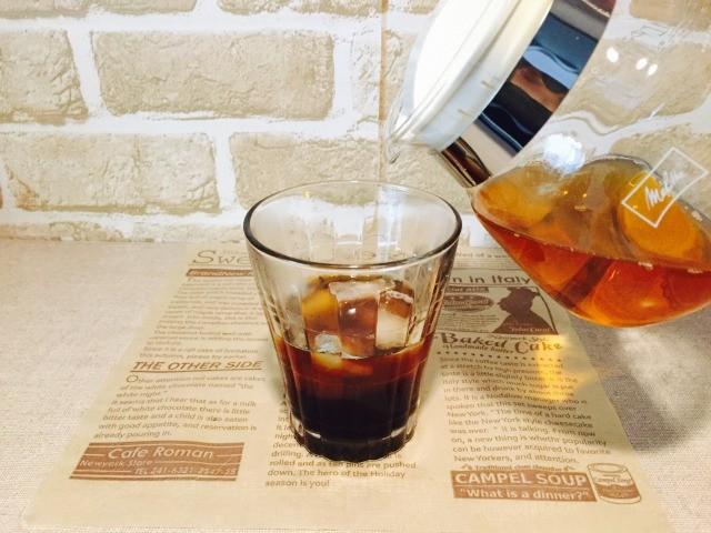 カフェインレスほうじ茶コーヒー_ほうじ茶を加える