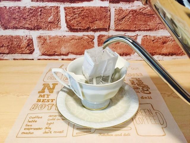 カフェインレスマロンコーヒー_コーヒーを淹れる