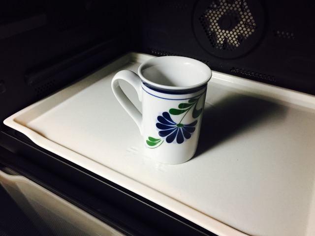 カフェインレスマロンコーヒー_ミルクを温める