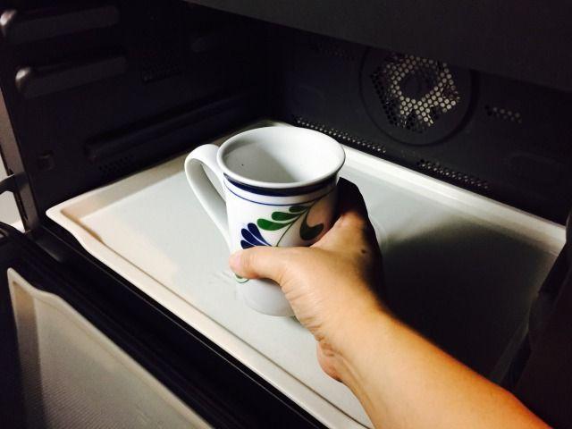 スパイシーフォームドミルクコーヒー_牛乳をレンジで温める