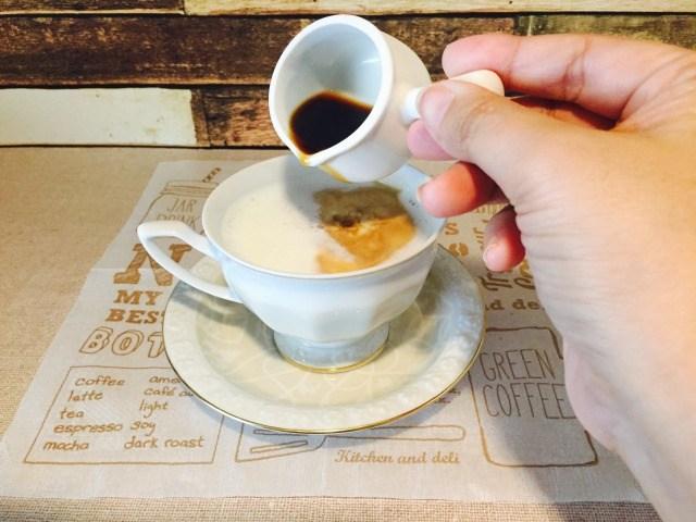 アルゼンチン 少しだけコーヒーを加える