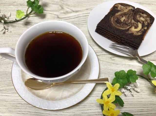 マーブルケーキ コーヒー①