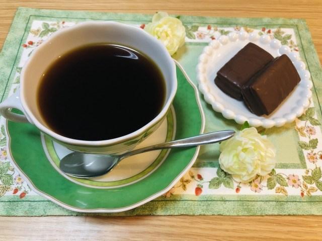 コーヒーとエンローバーチョコレート
