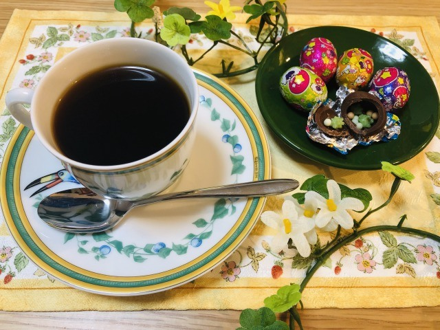 コーヒーとシェルチョコレート
