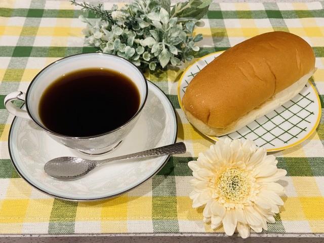 コーヒーとコッペパン