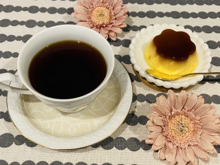コーヒーとプリン
