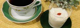 コーヒーと杏仁豆腐 272x96