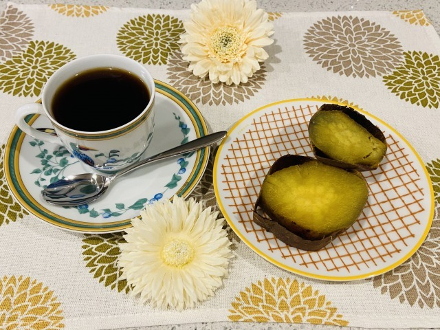 コーヒーと焼き芋