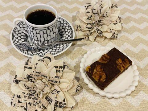 コーヒーとブラウニー 480x360